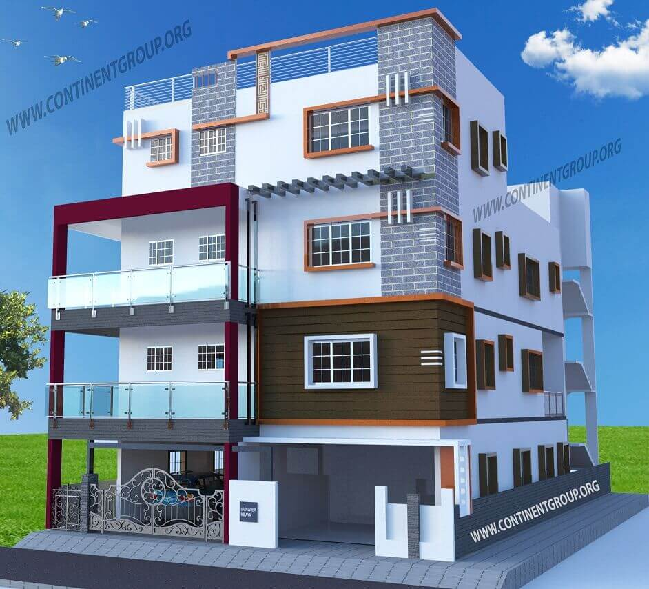 Main Building Group Pictures: Project Gallery-Building Elevation-3d Floor Plan-Interior